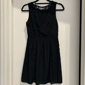 American Eagle black lace back dress